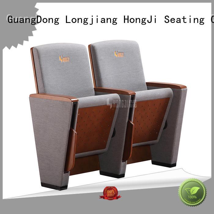 HONGJI auditorium audience seating chairs upholstery cinema