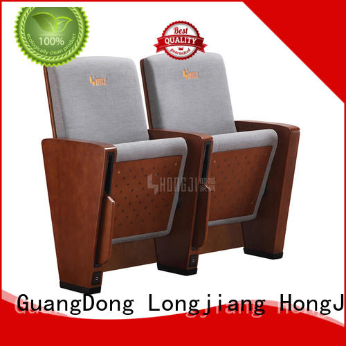 HONGJI Brand wood pad hj8012a auditorium chairs manufacture