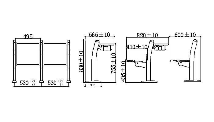 ISO9001 certified elementary school desk tc916 supplier for high school-1