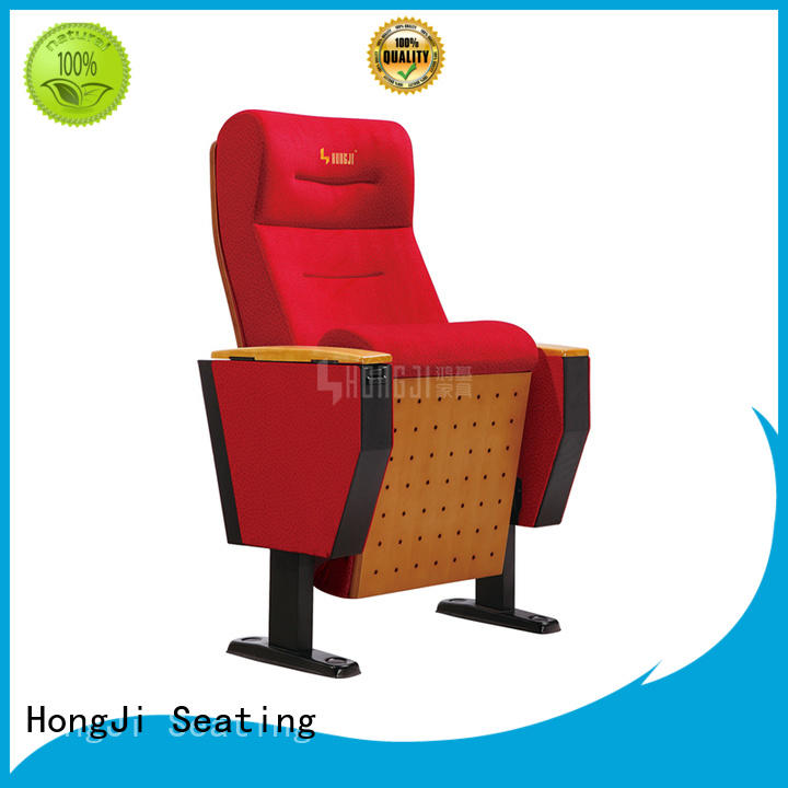 HONGJI outstanding durability black leather theater seats supplier for office furniture