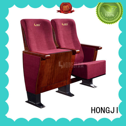 HONGJI newly style auditorium seating chairs supplier for cinema