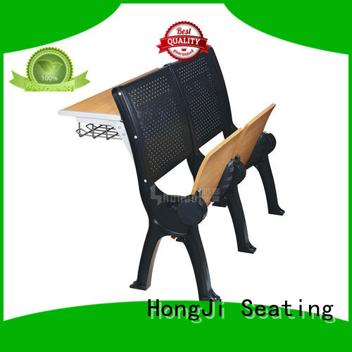ISO14001 certified student desk and chair wooden manufacturer for university
