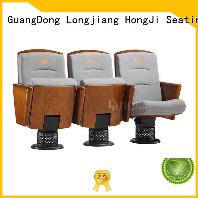 Custom hj8005c auditorium chairs wooden HONGJI