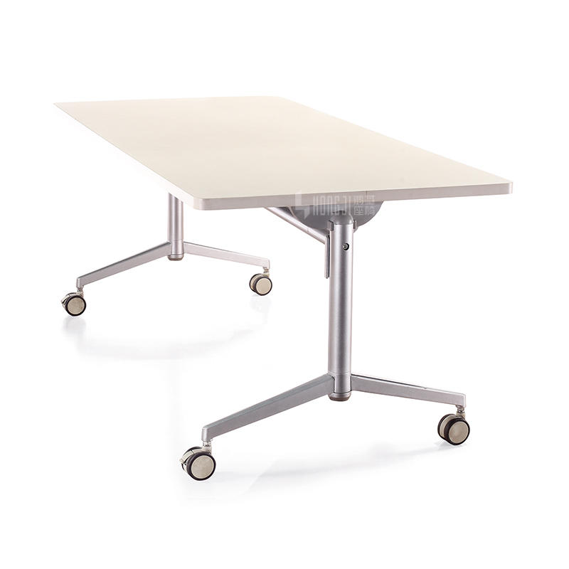Movable folding spliced aluminum alloy conference training table HD-04C