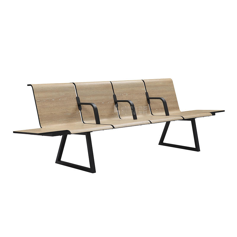 Airport bench 4-seater waiting chair with hospital modern style H72C-4FT