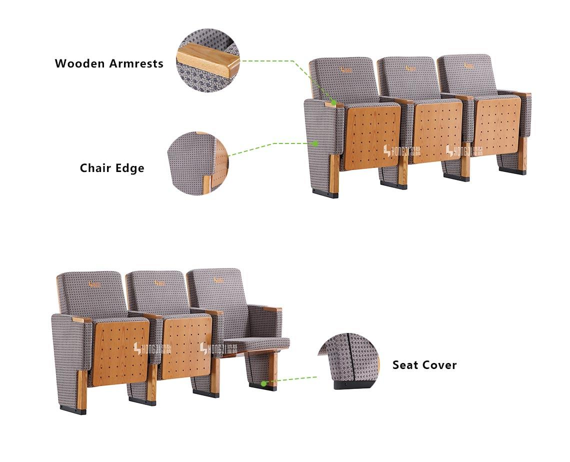 HONGJI Brand furniture 3d durable custom lecture theatre chairs