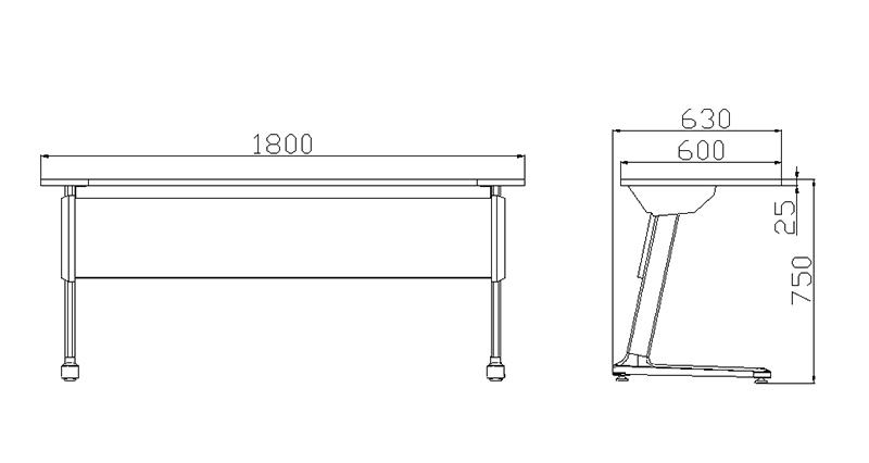 foldable black office desk hd10a exporter for manufacturer-1
