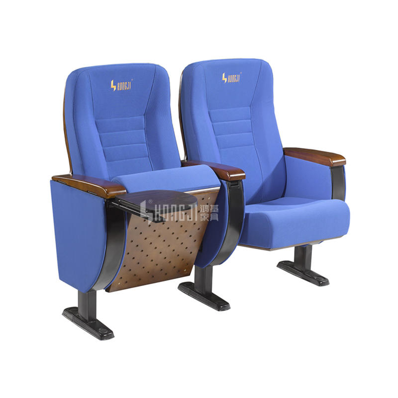 Price wooden hall auditorium seat design with tablet HJ82