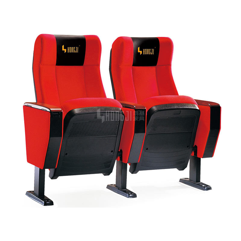 Durable plastic cover theater type chair hall chair for auditorium design HJ92