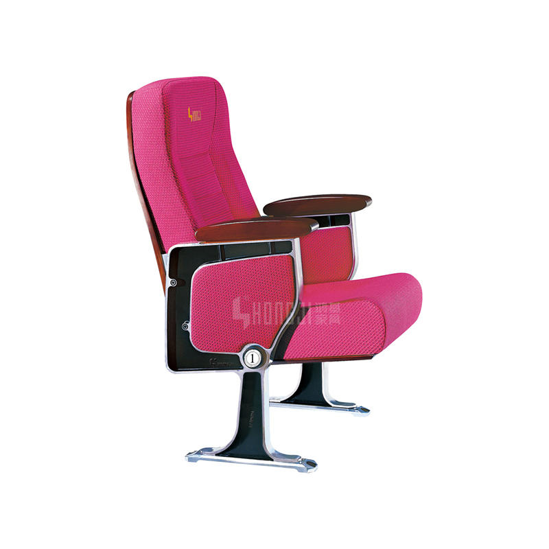 Conference room durable upholstery fabric auditorium tip-up chairs HJ96A