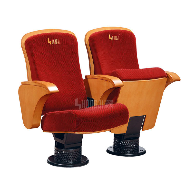 Elegant Wooden Armrest Vistor Cinema Auditorium Theater Chair HJ803C