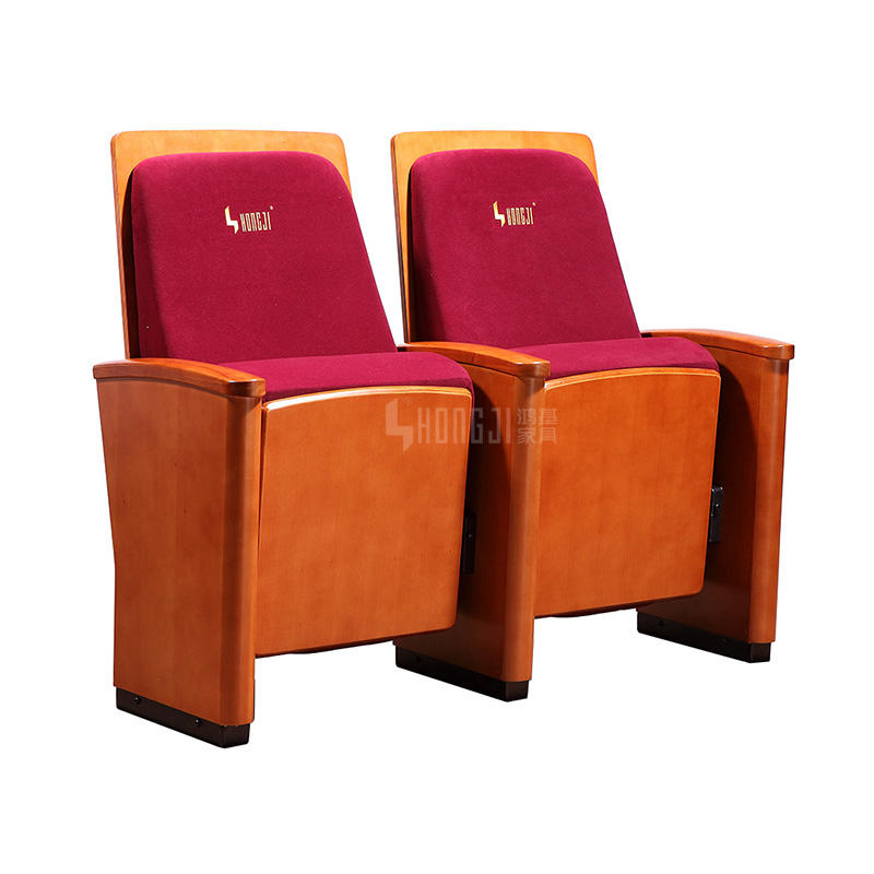 Wooden Armrest University Conference Theater Auditorium Seating HJ8009