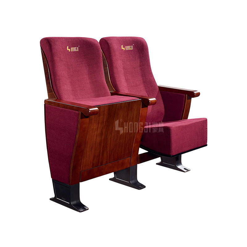 High Quality Solid Wood Church Cinema Auditorium Theater Seating HJ8013A