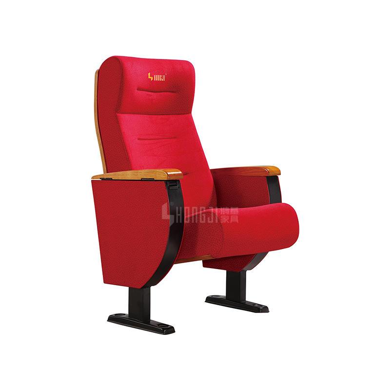 Wooden armrest High back auditorium seating in various hall furniture HJ8203