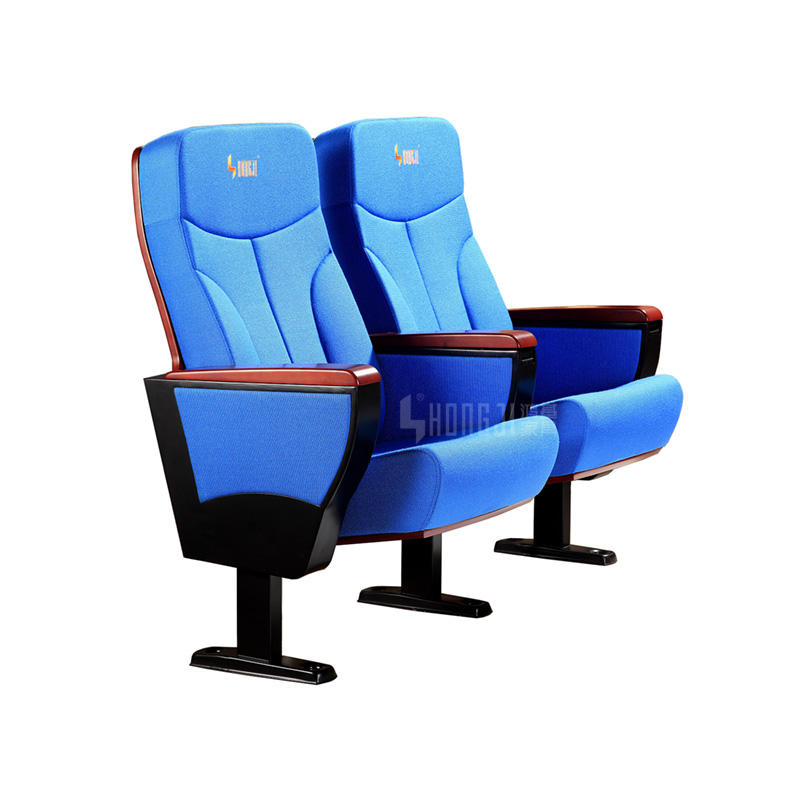 Wholesale University Auditorium Chairs With Writing Pad Cheap Folding Church Chairs Fabric Cinema Seats HJ9106