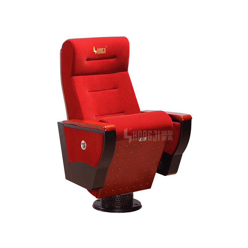 Fixed Single Pedestal Cinema School Classroom Church Auditorium Chair HJ9109