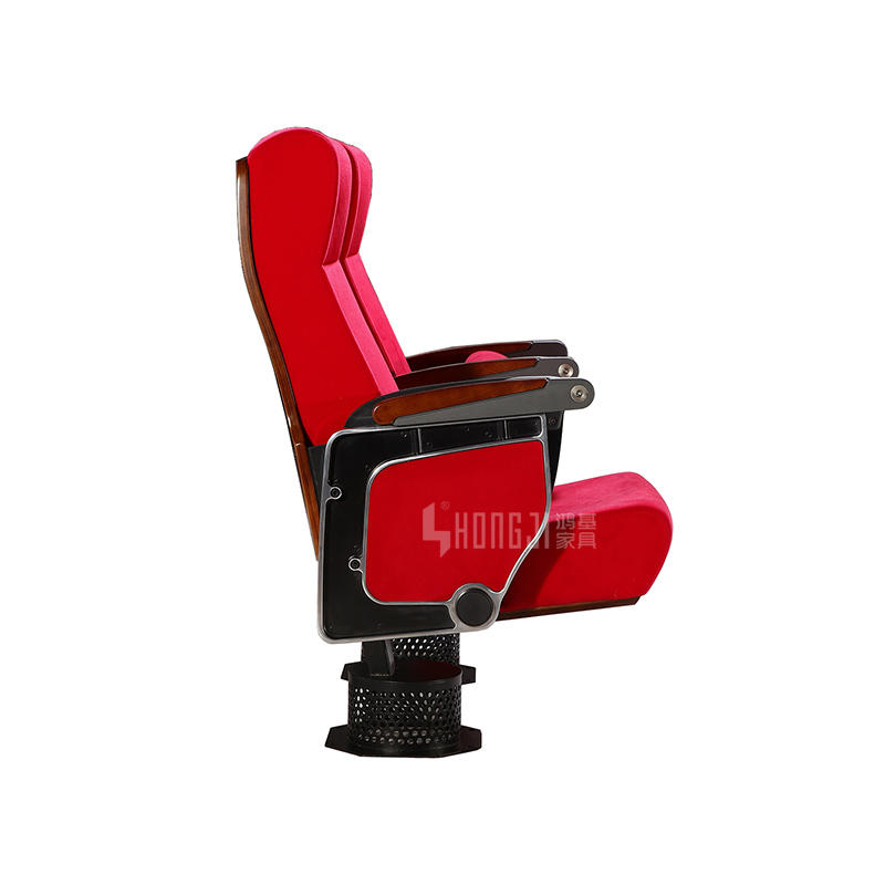Single leg Aluminum theater furniture auditorium chair HJ9625 for lecture hall