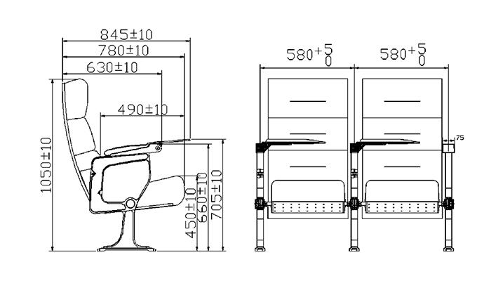 HONGJI elegant lecture hall seating manufacturer for sale-1