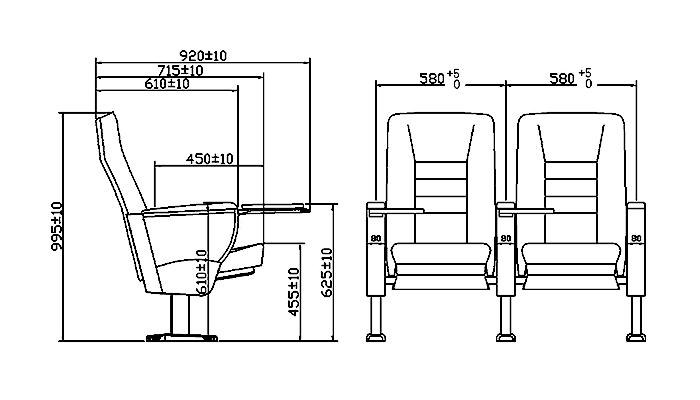 HONGJI newly style auditorium seating design supplier for university classroom-1