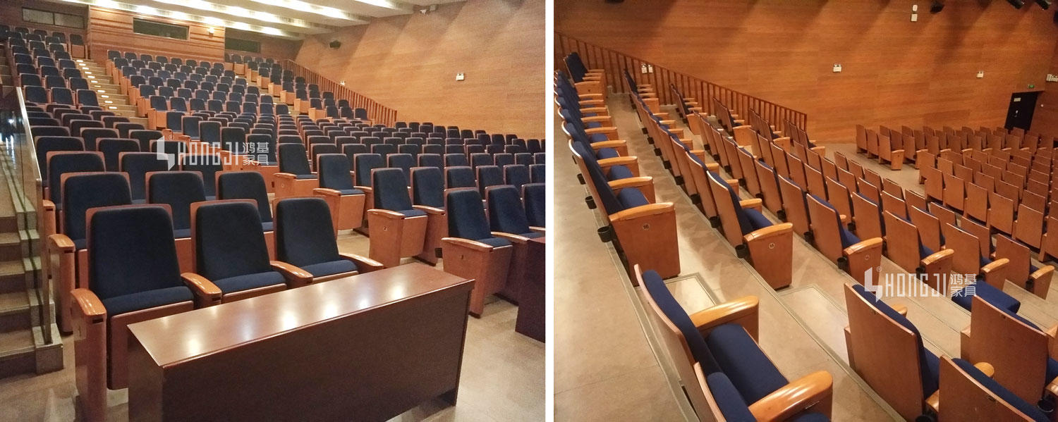lecture theatre chairs commercial abs auditorium chairs HONGJI Brand