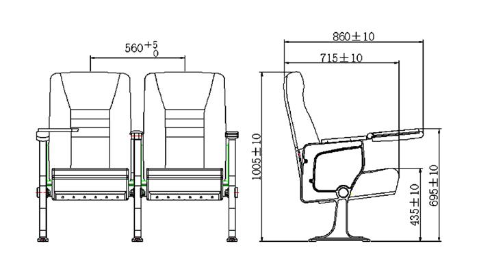 HONGJI custom theater seating manufacturer for university classroom-1