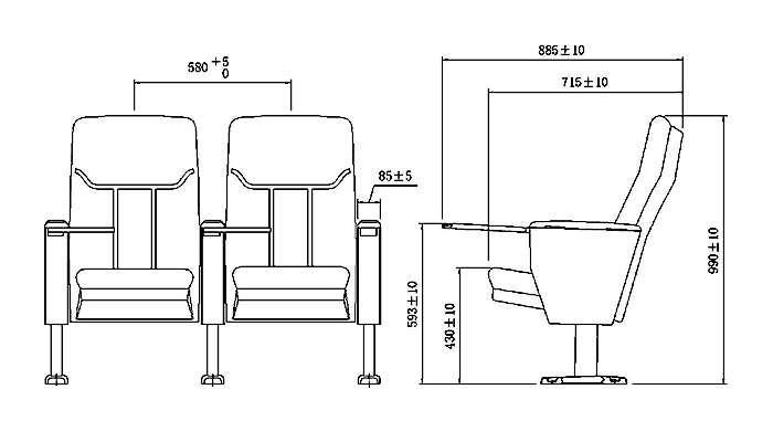 excellent lecture seating elegant factory for university classroom-1