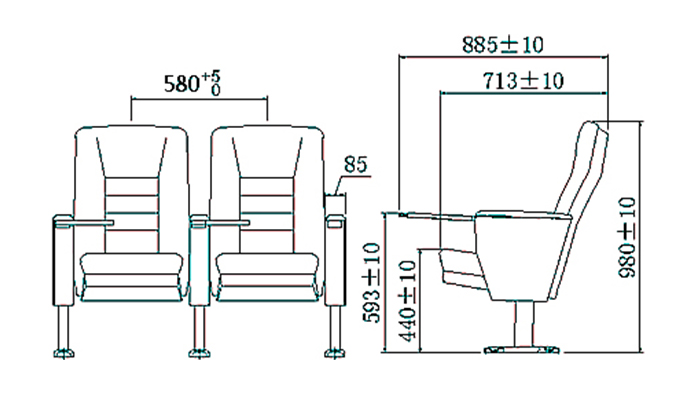 HONGJI newly style custom theater seating manufacturer for office furniture-1
