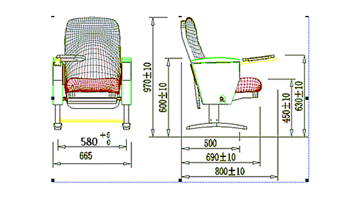 outstanding durability auditorium seating design standards factory for university classroom-1