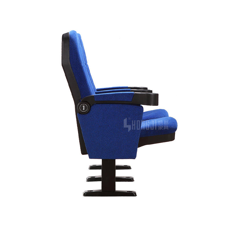 Cheap hotsale metal steel leg cinema seat with cup holder  HJ16F