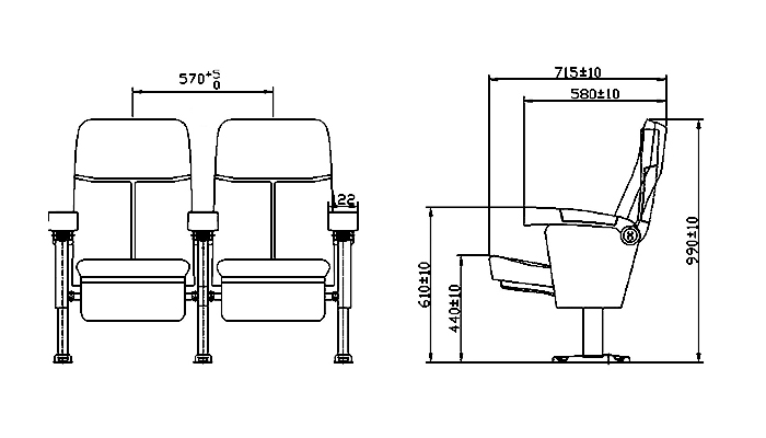 HONGJI hj9505c theater chairs competitive price for cinema-1