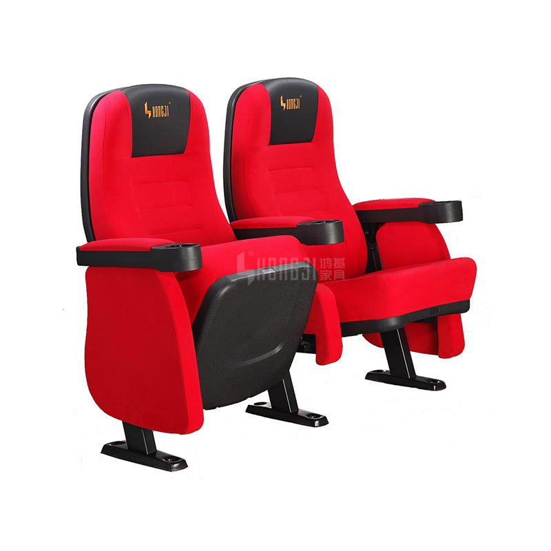 3D Multiplex Theater Seating, Cinema Chair with Push or Rocking Back HJ95
