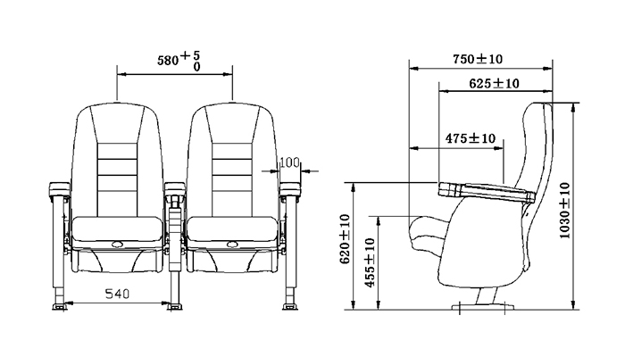 HONGJI odm movie theater chairs competitive price for importer-1