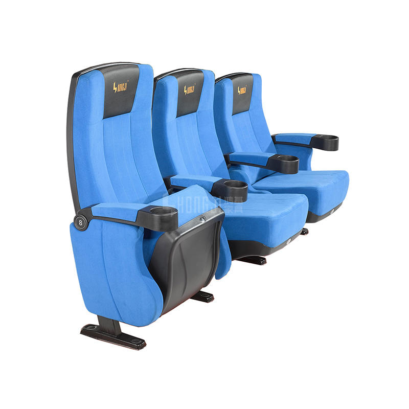 3D Cinema Chair , Theater Seating With Cupholder HJ812