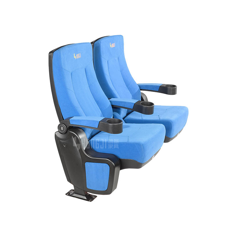 Wholesale Blue 3d cinema chair acousitic theatre seating with Plastic shell in seat and back HJ815A