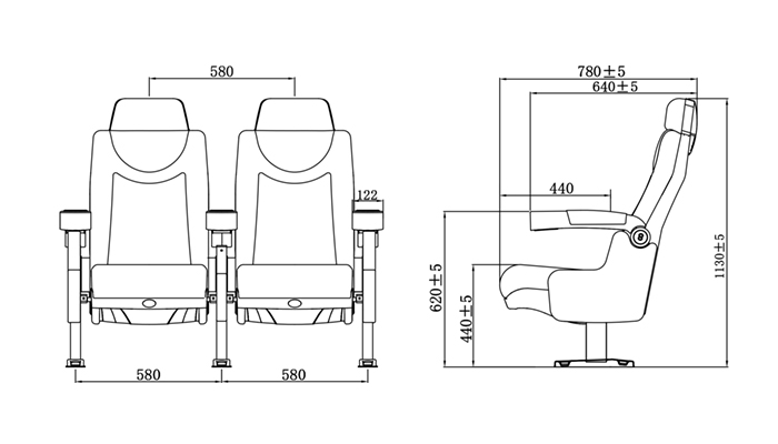 HONGJI hj95 home theater seating competitive price for importer-1