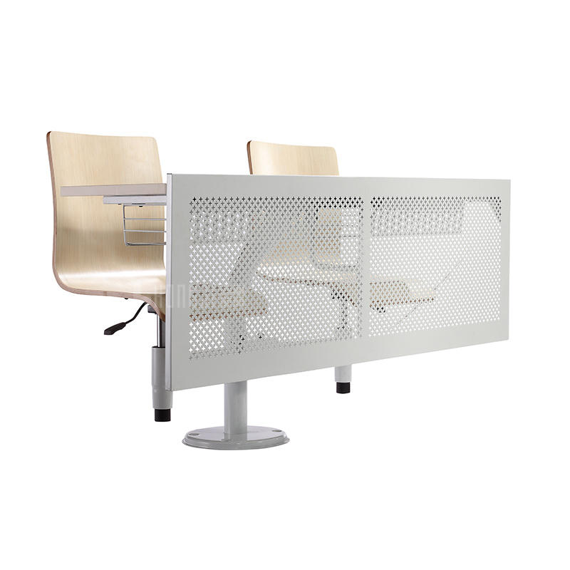 Modern school Furniture double student desk and chair set classroom and lectual hall TC-916