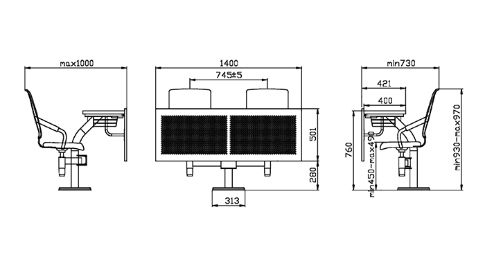 HONGJI ISO14001 certified class desk supplier fpr classroom-1