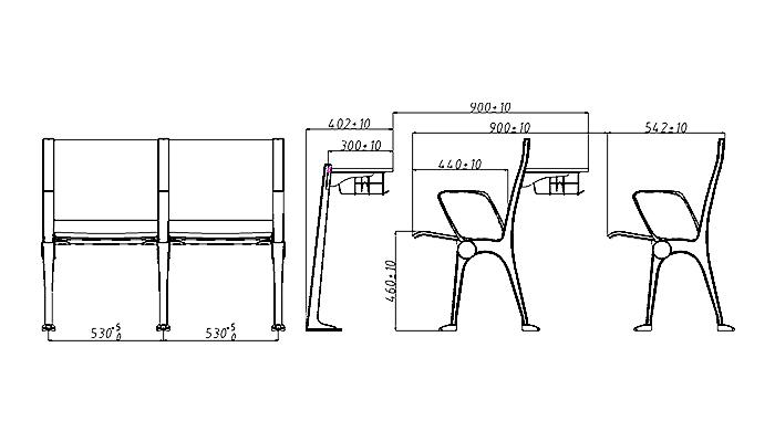 HONGJI tc930 classroom desk supplier for university-1