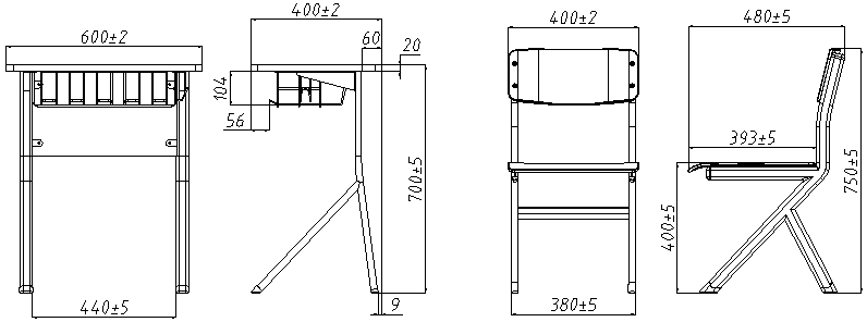 HONGJI tc004 school table and chair set manufacturer fpr classroom-1