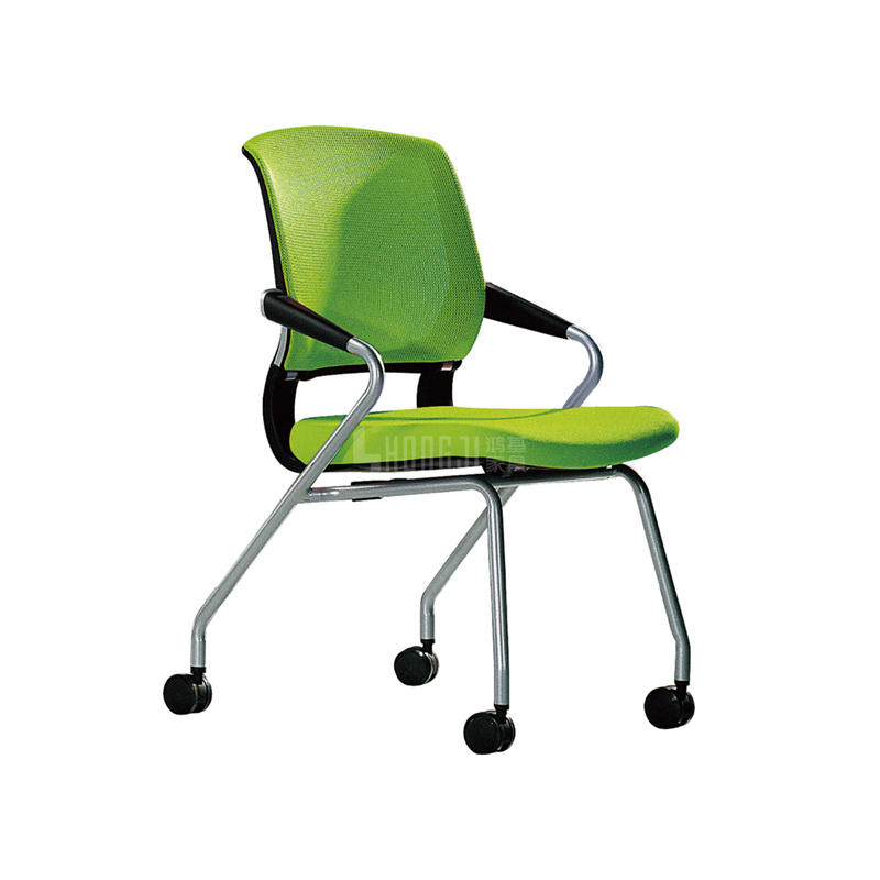 Office Furniture Folding Cheap Mesh Stackable Chair With Castors G090A