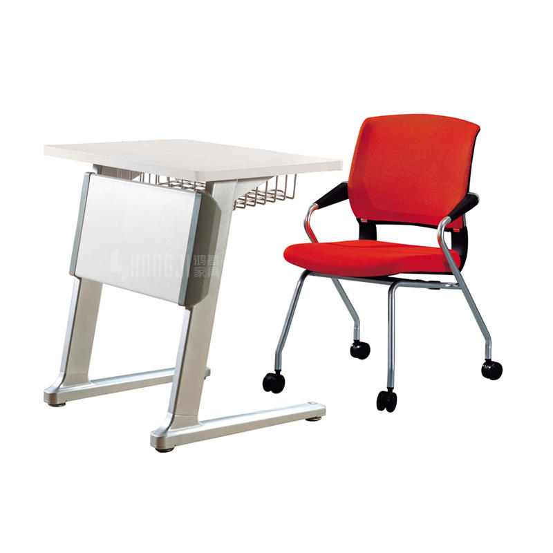 School Classroom Student Desk In School Set Aluminium Legs School Desk Price For Single Seat HD-02C1
