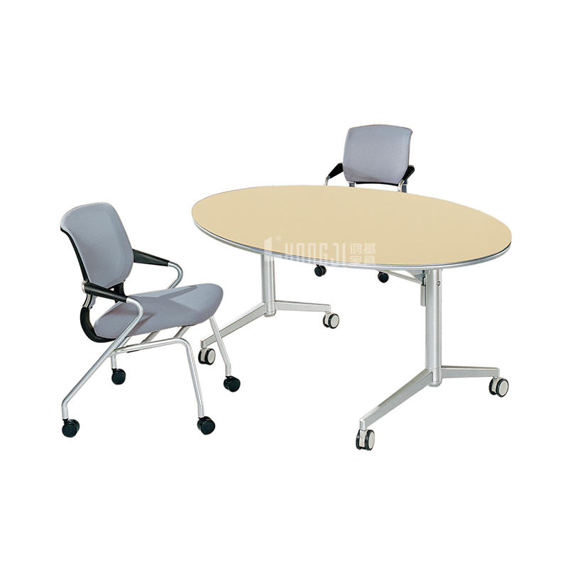 Oval Wood Conference Foldable Training Desk HD-04B1