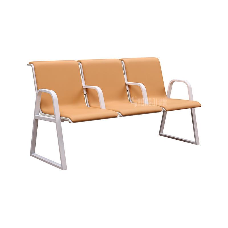 High Quality comfortable Hospital Furniture PU Benchs H72A-3F-S