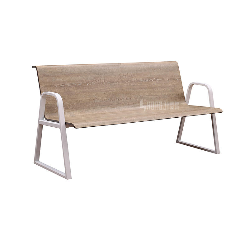 Hongji Steel Public Bench Hospital Visitor 3 Seater Waiting Seat H72D-3