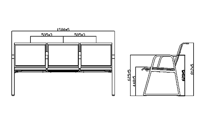 HONGJI h60b3 reception seating design for bank-1