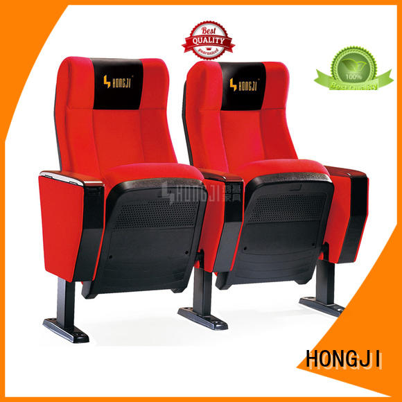 HONGJI wooden 2 seat theater seating hj9935a for
