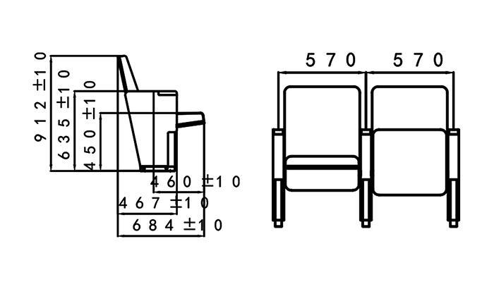 HONGJI church seating chairs supplier for university classroom-1