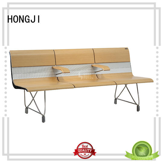 HONGJI durable in use waiting room bench design for travel terminal