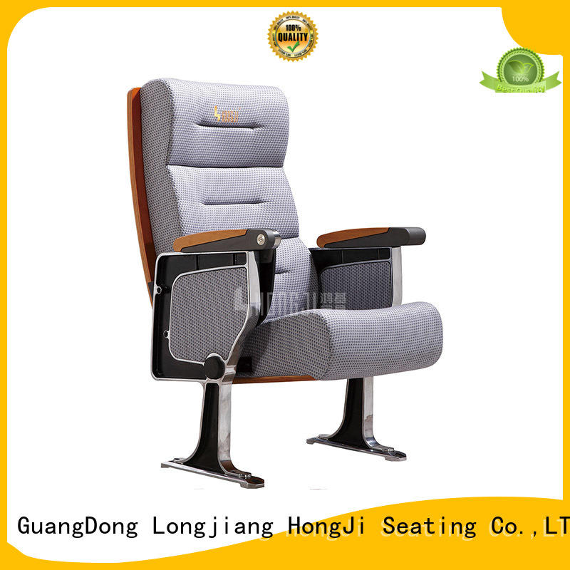 HONGJI outstanding durability 2 seat theater seating factory for sale