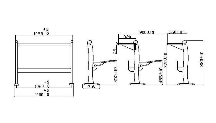 HONGJI ISO14001 certified primary school furniture supplier for high school-1